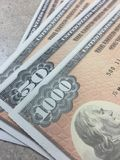 US Savings Bonds Stock Photography