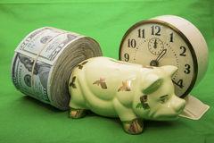 US savings time money concept Royalty Free Stock Photos