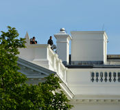 US Secret Service White House Rooftop Surveillance Stock Image