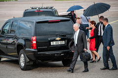 US Secretary of Defense James Mattis arrived in Kyiv. August 23, 2017. Kyiv, Ukraine. US Secretary of Defense James Mattis arrived in Kyiv. Mattis will royalty free stock photography