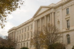 US Senate office building. A view of the facade of the Russell, US Senate office building in Washington, DC Stock Images