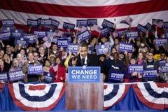 US Senator Barack Obama. Speaking at Change We Need Presidential rally, October 30, 2008 at Verizon Wireless Virginia Beach Amphitheater in Virginia Beach, VA Stock Images