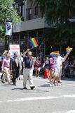 US Senator Chuck Shumer participates at LGBT Pride Parade in New York Royalty Free Stock Photos