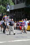 US Senator Chuck Shumer participates at LGBT Pride Parade in New York Royalty Free Stock Image