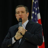 US Senator Ted Cruz Campaigns in Las Vegas before Republican Nevada Caucus Royalty Free Stock Photography