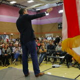 US Senator Ted Cruz Campaigns in Las Vegas before Republican Nevada Caucus Royalty Free Stock Photo
