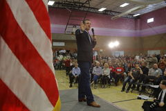 US Senator Ted Cruz Campaigns in Las Vegas before Republican Nevada Caucus Stock Photography