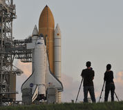 US Shuttle launch pad Stock Photo