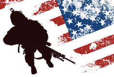 US soldier royalty free stock images