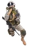 US soldier with anti-tank rocket launcher RPG Stock Image