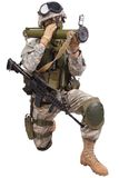 US soldier with anti-tank rocket launcher RPG Royalty Free Stock Photos