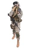 US soldier with anti-tank rocket launcher Royalty Free Stock Photos