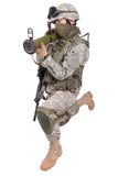 US soldier with anti-tank rocket launcher Stock Images