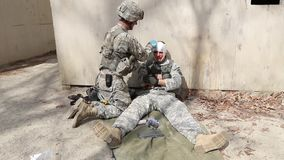 US Soldier Bandage Other Soldier stock video