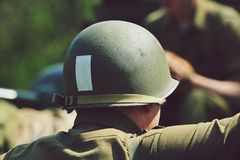 US soldier. In the Czech Republic Royalty Free Stock Photo