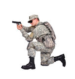 US soldier with gun Royalty Free Stock Photo