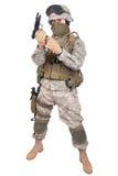 US soldier with m92 handgun Stock Photo