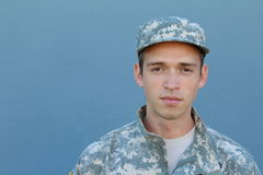 US Soldier With PTSD royalty free stock photography