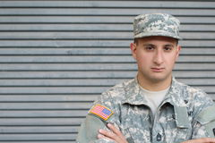 US Soldier With PTSD. Problems royalty free stock image