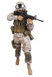 US soldier with rifle Stock Photography