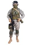 US soldier with rifle Royalty Free Stock Image