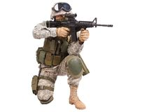 US soldier with rifle Stock Photos