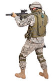 US soldier with rifle Stock Image