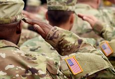 Free US Soldier Salute. US Army. US Troops. Military Of USA Stock Images - 136293944