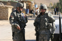 Us Soldiers in Iraq Royalty Free Stock Photography
