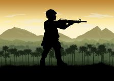 US Soldiers Vietnam Era Royalty Free Stock Photography