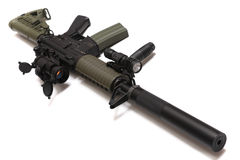 US Spec Ops M4A1 custom assault rifle. Stock Images
