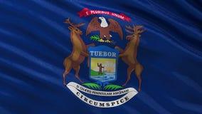 US-Staats-Flagge nahtloser Schleife Michigans lizenzfreie abbildung