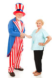 US-Staatsbürgerschaft Stockfoto