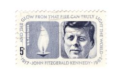 US Stamp. A vintage Us stamp commemorating the death of president J.F.Kennedy Royalty Free Stock Photo