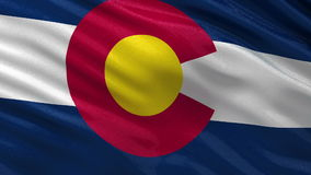 US state flag of Colorado seamless loop stock footage
