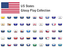 US State Flag Icons Royalty Free Stock Photography