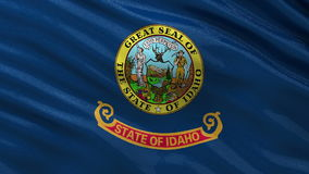 US state flag of Idaho - seamless loop. US state flag of Idaho gently waving in the wind. Seamless loop with high quality fabric material stock video footage