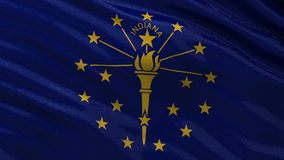 US state flag of Indiana - seamless loop. US state flag of Indiana gently waving in the wind. Seamless loop with high quality fabric material stock video footage