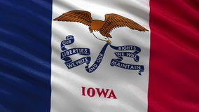 US state flag of Iowa - seamless loop. US state flag of Iowa gently waving in the wind. Seamless loop with high quality fabric material stock footage