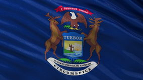 US state flag of Michigan- seamless loop stock footage