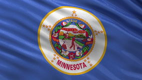 US state flag of Minnesota - seamless loop. US state flag of Minnesota gently waving in the wind. Seamless loop with high quality fabric material stock video
