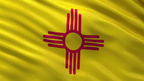 US state flag of New Mexico - seamless loop Stock Photos
