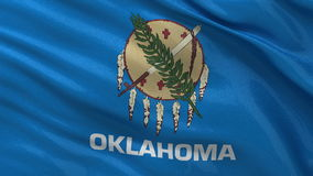 US state flag of Oklahoma - seamless loop. US state flag of Oklahoma gently waving in the wind. Seamless loop with high quality fabric material stock video