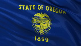US state flag of Oregon - seamless loop stock video footage