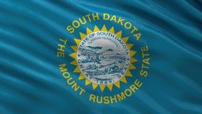 US state flag of South Dakota - seamless loop stock video