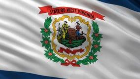US state flag of West Virginia - seamless loop stock video