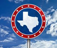 US State of Texas map Stock Photography