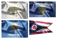 US States 4 in 1 (set11) Royalty Free Stock Images