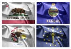 US States 4 in 1 (set5) Stock Image