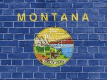 US States Concept: Montana Flag Wall stock illustration